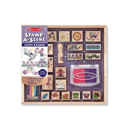 melissa & doug fairy garden stamp set