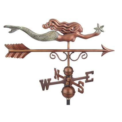 copper mermaid weathervane