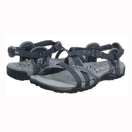 gray merrell hiking sandals for women