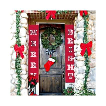 Merry & Bright Door Banners