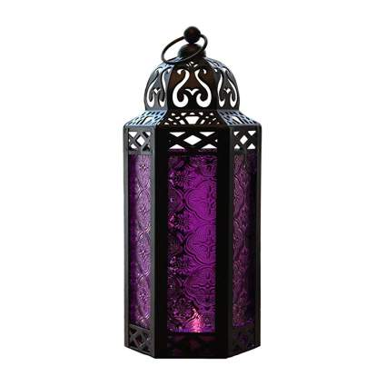 purple moroccan style candle lantern