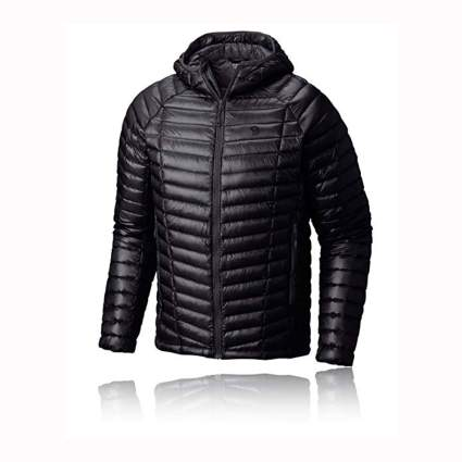 men's black packable down jacket