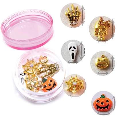 Spooky nail charms