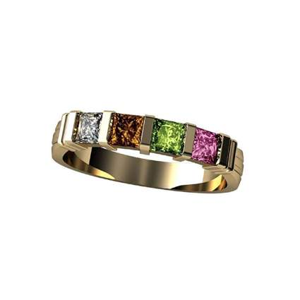 gold and gemstone mother's ring