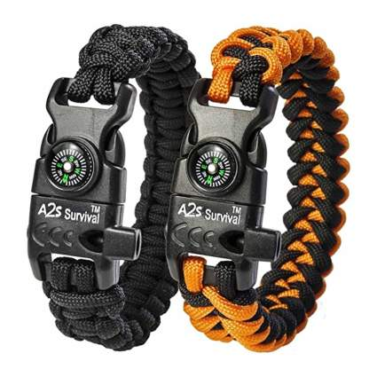 paracord survival bracelet set