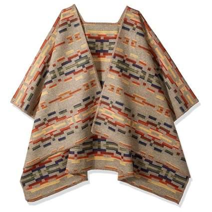 pendleton wool poncho wrap