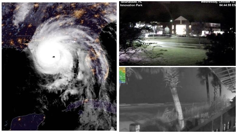 Live Cams of Hurricane Michael