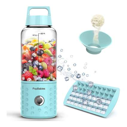 Light blue portable blender