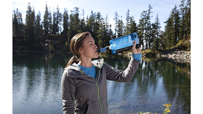 Portable Mini Purifier Water Filter Straw Camping Emergency Survival Tool I2S6