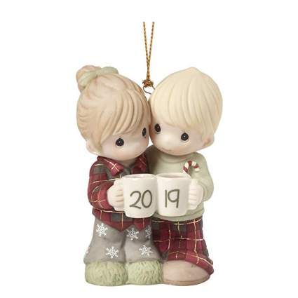 cute couple first christmas together ornament