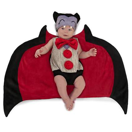 Baby in vampire costume