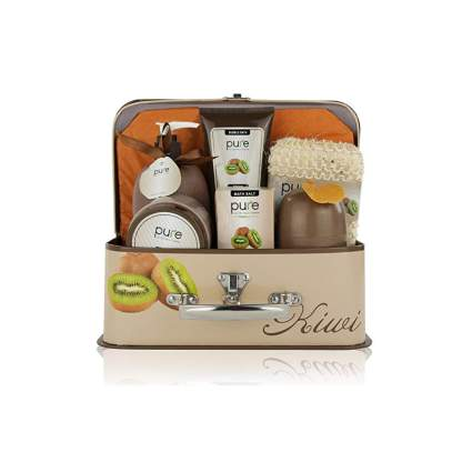 kiwi scented spa gift basket