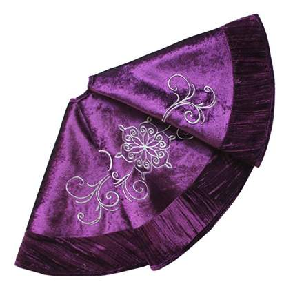 purple velvet christmas tree skirt