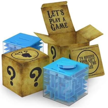 puzzle box for money gift
