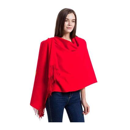 red cashmere shawl