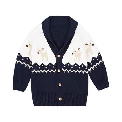 Reindeer Cardigan Sweater
