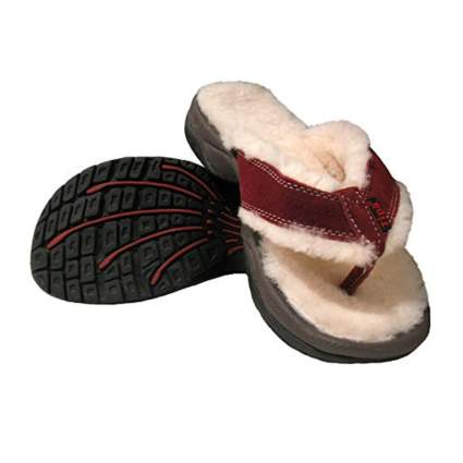 himilayan shearling slipper sandals