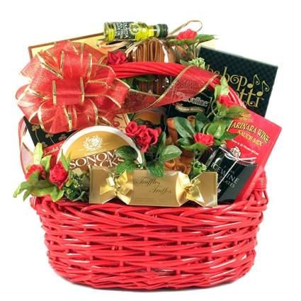 romantic italian dinner for two gift basket