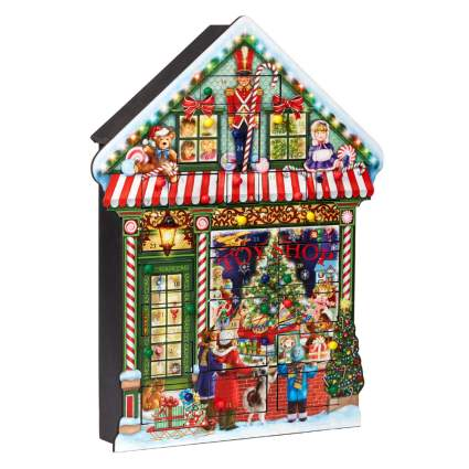 toy shop wooden advent calendar