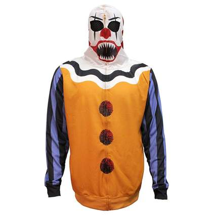 scary clown zipper hoodie