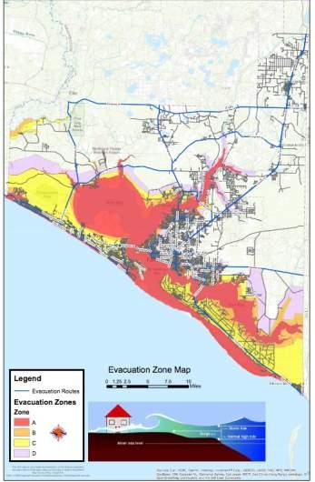 Bay County Evacuation Zone