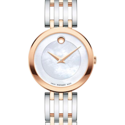 Movado Esperanza White Mother of Pearl Dial Ladies Watch