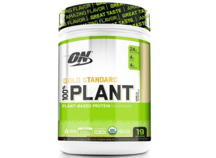 Optimum Nutrition Organic Plant Based Protein Powder, Vanilla