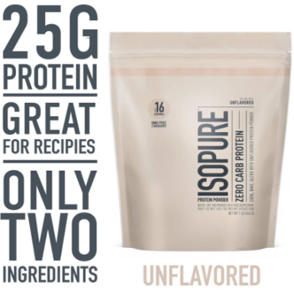 Isopure Zero Carb Unflavored 25g Protein Powder