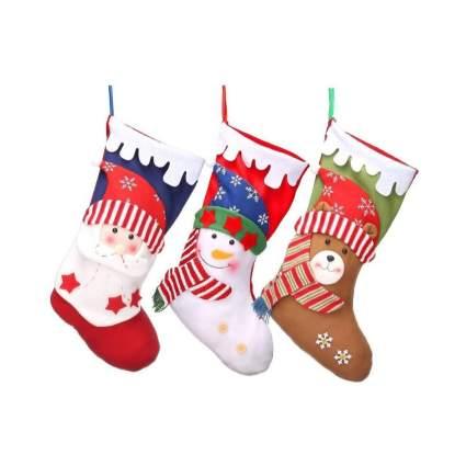 Set of Three Christmas Stockings