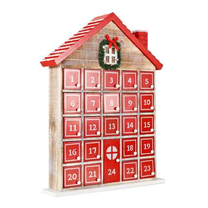 shabby chic house wooden advent calendar