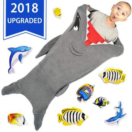 shark blanket sleeping bag for kids gift