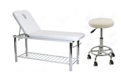 Skin Act heavy duty treatment table with stool