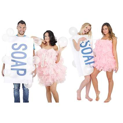 soap and bubbles couples costume