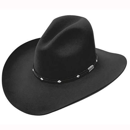 black buffalo felt cowboy hat