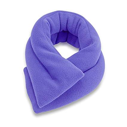 purple heated neck wrap