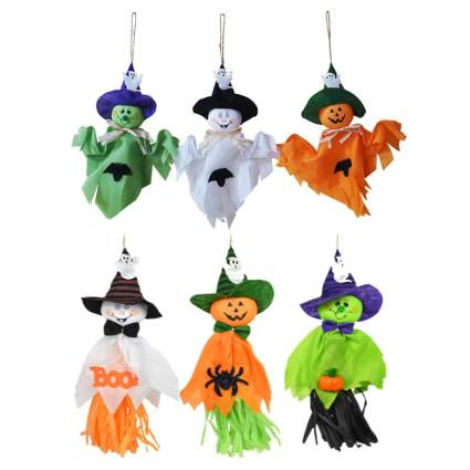 Cute colorful halloween ghost decorations