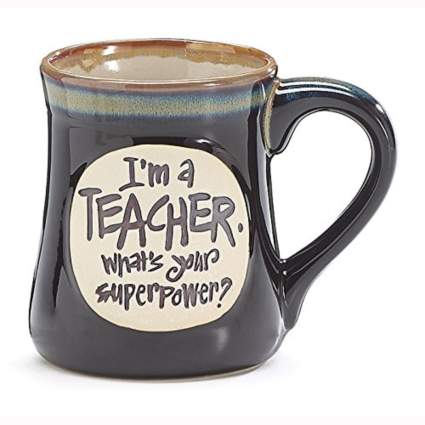 black coffee mug for teachers