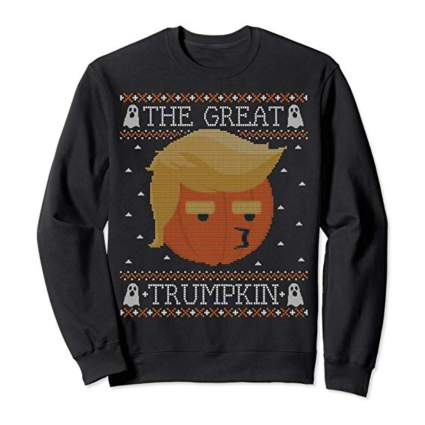 the great trumpkin ugly halloween sweatshirt