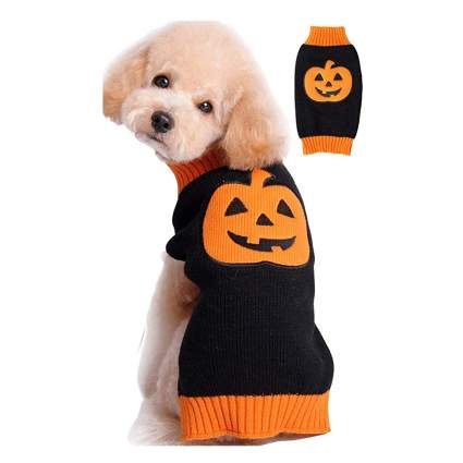 ugly pumpkin pet sweater