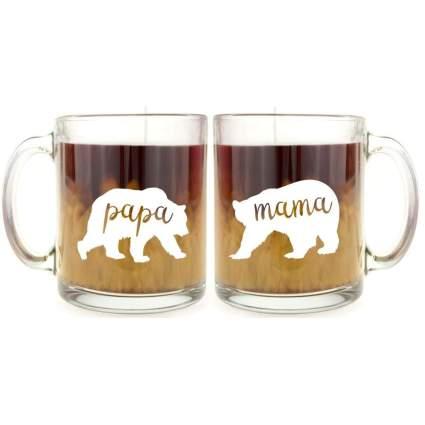 mama and papa bear mugs