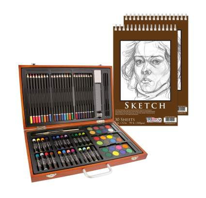 U.S. Art Supply 82 Piece Deluxe Art Creativity Set