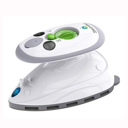 white mini travel steam iron
