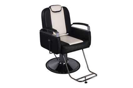 Black and white barber chair