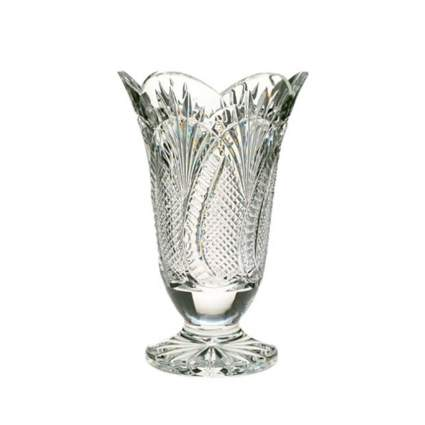 waterford cut crystal footed vase