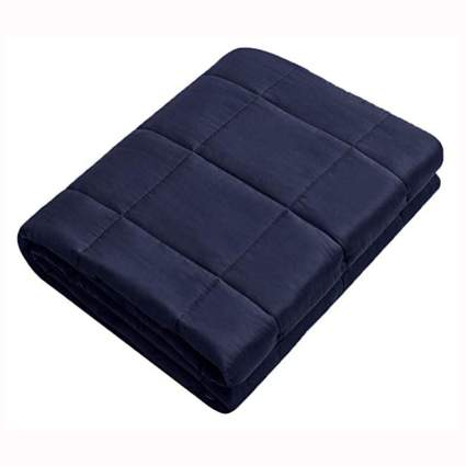 navy weighted blanket