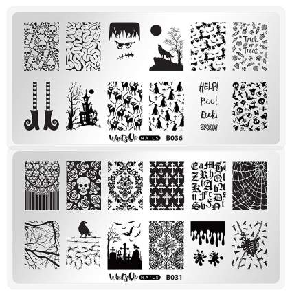 Halloween stamping plates
