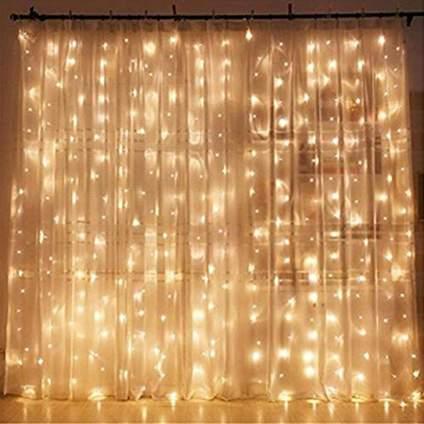 Window Curtain Twinkle Lights