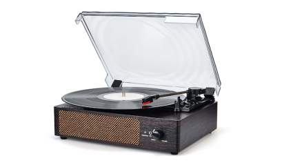 wodoker record player with speakers