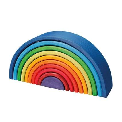 wooden rainbow set