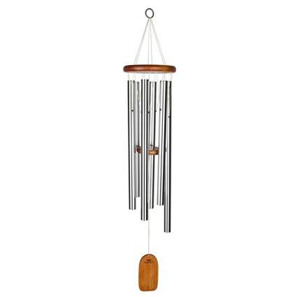 wood and metal wind chime